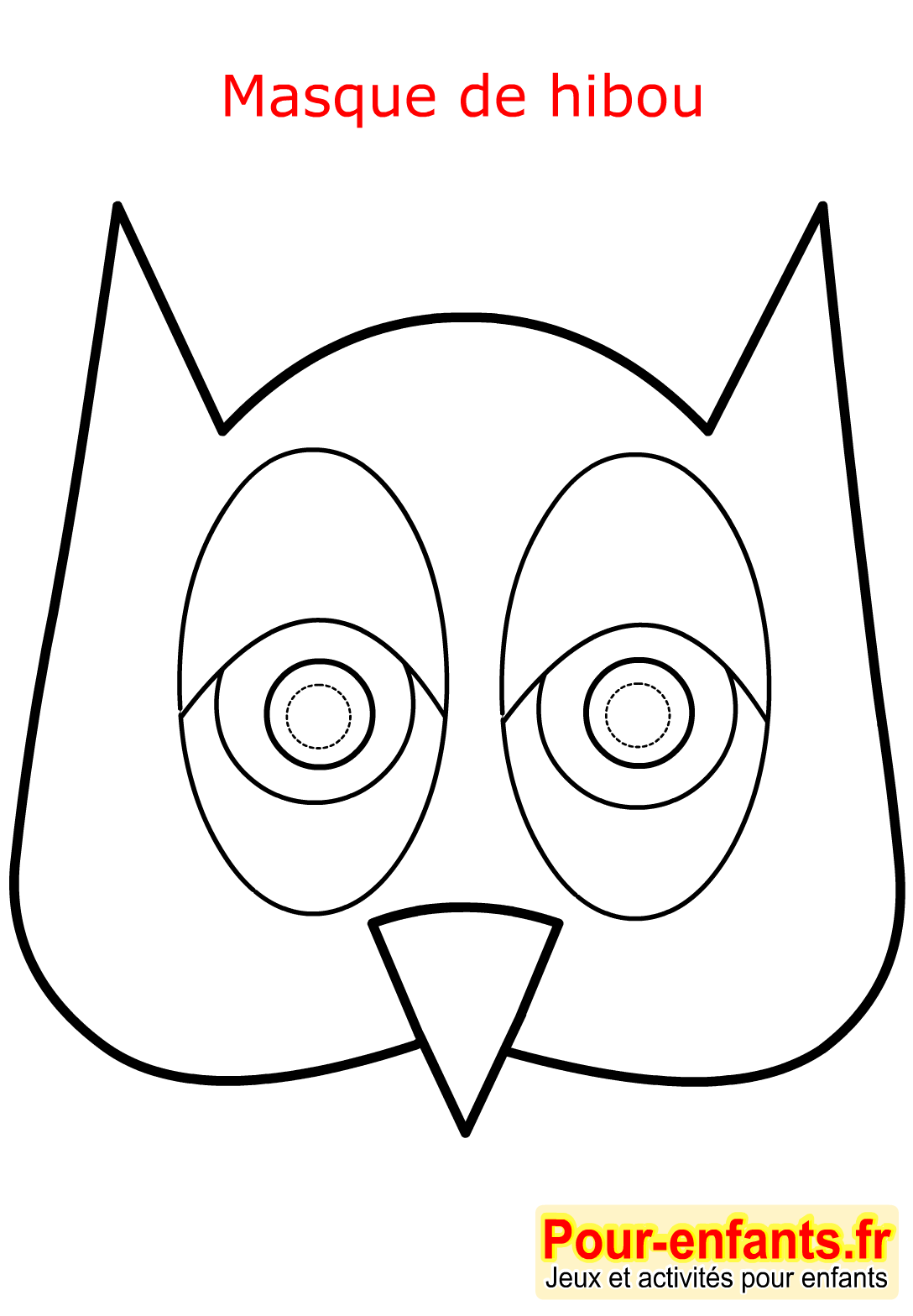 masque coloriage facil hibou. Black Bedroom Furniture Sets. Home Design Ideas