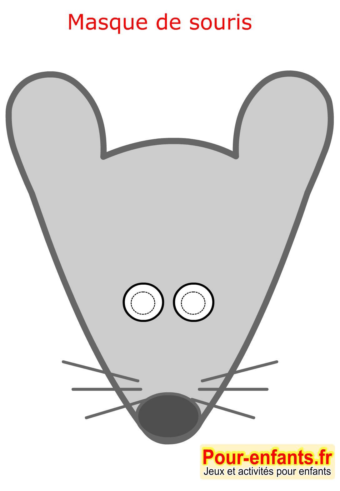 Masque de carnaval imprimer souris paques enfant faire - Masque chauve souris a imprimer ...