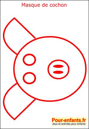 Coloriage Cochon Maternelle.Masque De Carnaval Coloriage Cochon Enfant Fabrication Masques Faire