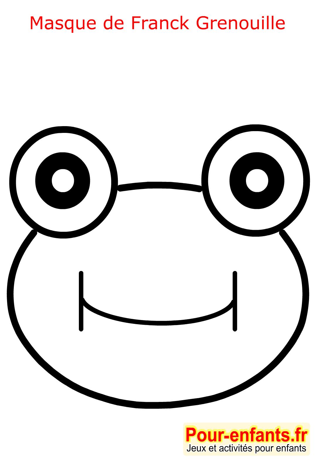 Masque de carnaval coloriage grenouille enfant fabrication masques faire deguisement enfants - Dessin de grenouille a imprimer ...